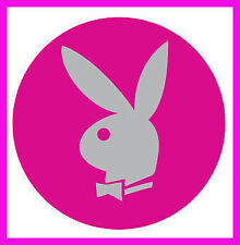 PLAYBOY HOT PINK BUNNY MAG CHROME WHEEL RIMS CENTRE EMBLEM DECALS STICKERS SEXY