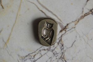 Details about Vintage Die OWL Pendent Making Brass Hand Casting Jewelry  Mold Stamp Seal