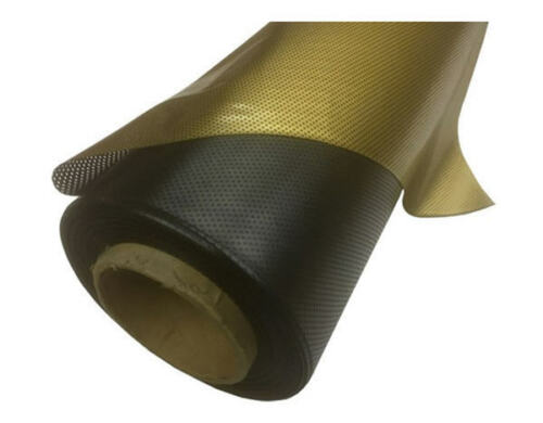 "Gold 48/"" x 48/"" Dot Matrix Static Cling Perforated Graphic Window Film"