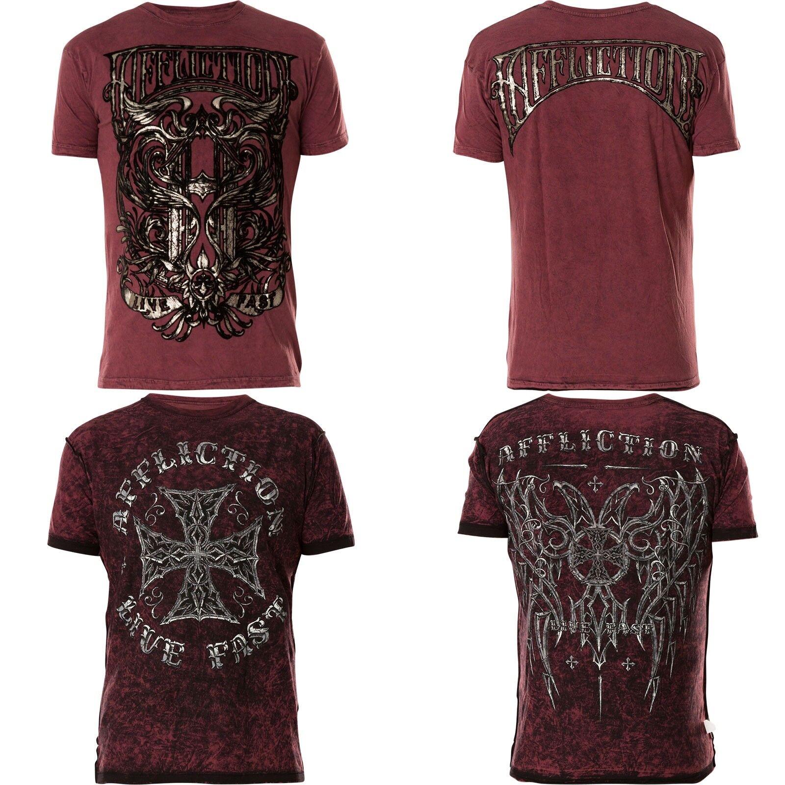 AFFLICTION T-Shirt Hypothesis Rev. Weinrot T-Shirts | Elegant und feierlich