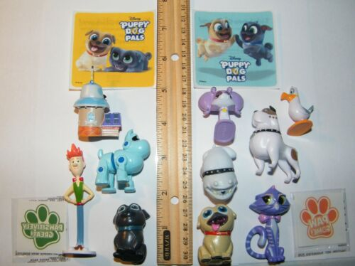 Disney Puppy Dog Pals Figure Set of 10 With Stickers and PAW Tattoos