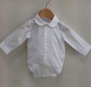 eda33153 Peter Pan Collar Shirt / Vest by Spanish Brand Sardon - 3 months to ...