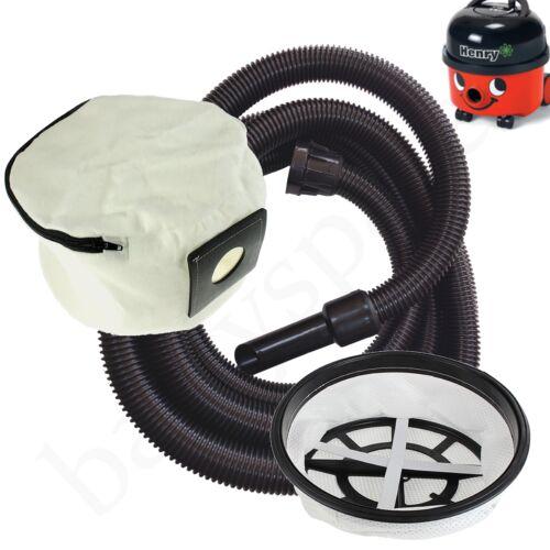 Filtro Tubo Flessibile /& Riutilizzabile Polvere Sacchetto per aspirapolvere HENRY NUMATIC Extra Lungo 5 METRI