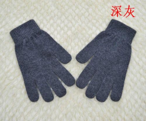 Mongolia 100/% Pure Cashmere Men Man Signature Touch Gloves Mittens-Black Grey