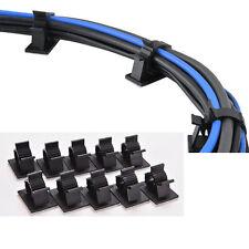 10pcs/lot Black Plastic Wire Fixed Car Line Clip Self Adhesive Cord ...