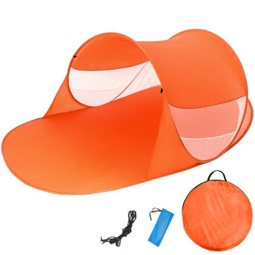 Tenda popup da spiaggia protezione UV sole campeggio parasole 245x145cm marrone