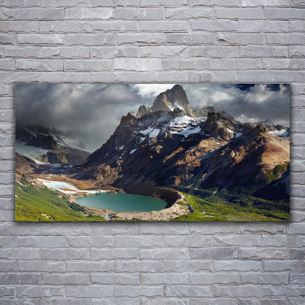 Photo sur toile Tableau Image Impression 120x60 Paysage Montagne Baie
