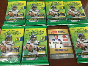 2018-7-FOOTBALL-PACK-LOT-ABSOLUTE-POSS-RC-BAKER-MAYFIELD-ROOKIE-2000-MADE