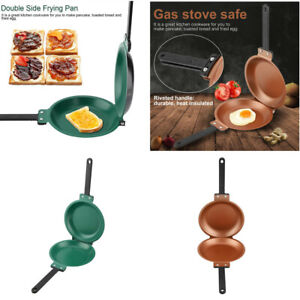 Double Side Non-stick Flip Frying Pan Fried Egg Omelette Pancake Maker Household