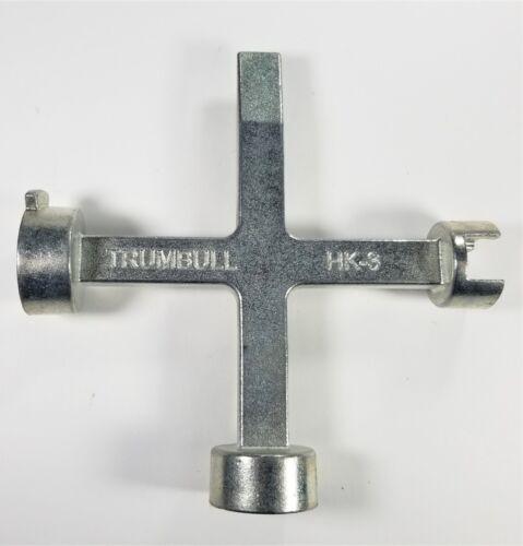 Large /& Mueller Pentagon Nuts Trumbull HK-3 Meter Box Key//Curb Key//Wrench Std