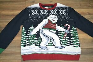932b80d9f67f Image is loading Ugly-Christmas-Sweater-Abominable-Snowman-Yeti-Great-for-