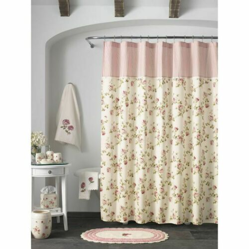 Piper /& Wright Rosalie Shower Curtain Floral Shabby Chic French Country Garden