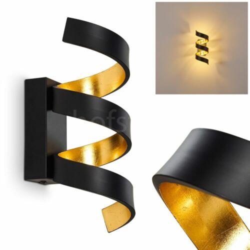 LED Wand Lampen schwarz//gold Flur Dielen Leuchten Wohn Schlaf Zimmer Beleuchtung