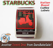 Starbucks Coffee Italian Roast Vespa Scooter Rare Labels Stickers New Full Roll