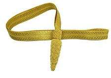 Sword Knot Gold Wire Flat Ribbon Infantry pattern R1786