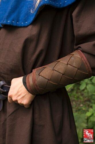 Protège-bras vikings marrons