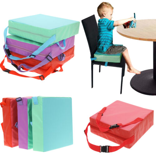 Children Booster Chair Cover Pad Baby Kids Dining Seat Soft Leather Cushion Pad