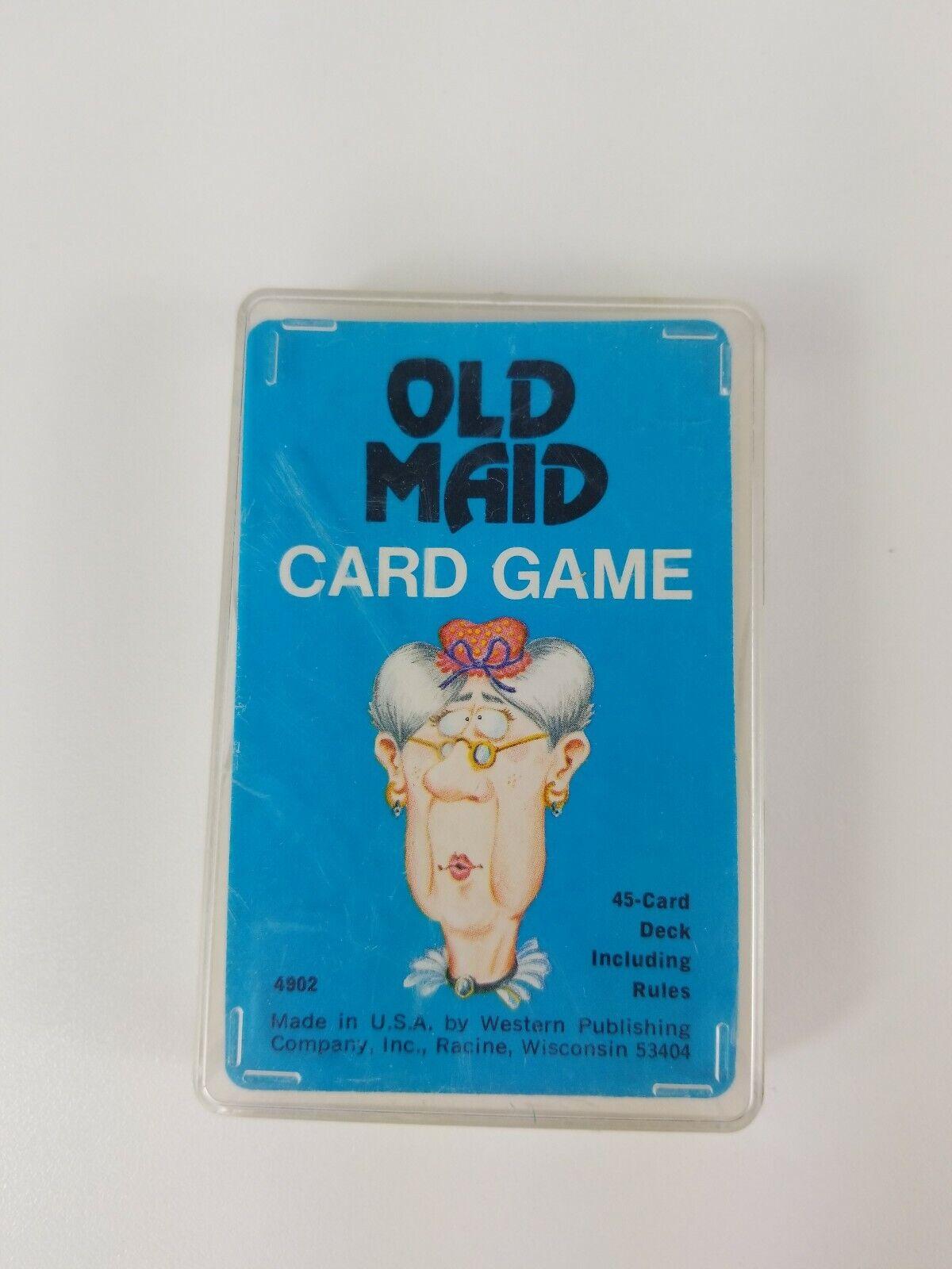 Vintage 1975  4902 Whitman vieille fille jeu de carte Western Publishing complet