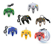Nintendo 64 N64 Controller Black Green Blue Red Gold Yellow Gray