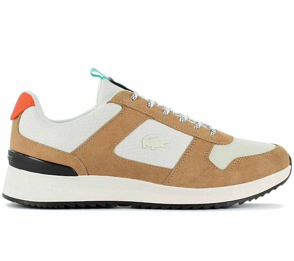 Lacoste Joggeur 2.0 Men's Sneaker Brown White 7-40SMA0030F57 Leisure Shoes New