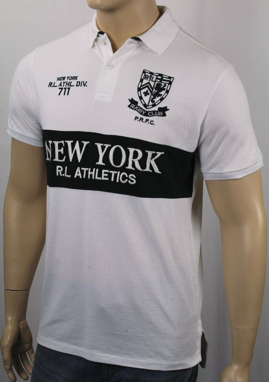 Polo Ralph Lauren White NY New York Rugby Club Shirt NWT