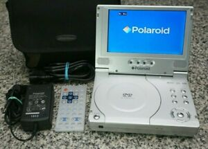 Polaroid-PDV-0700-7-034-Portable-DVD-CD-Player-W-Remote-Case-Tested-Free-Shipping