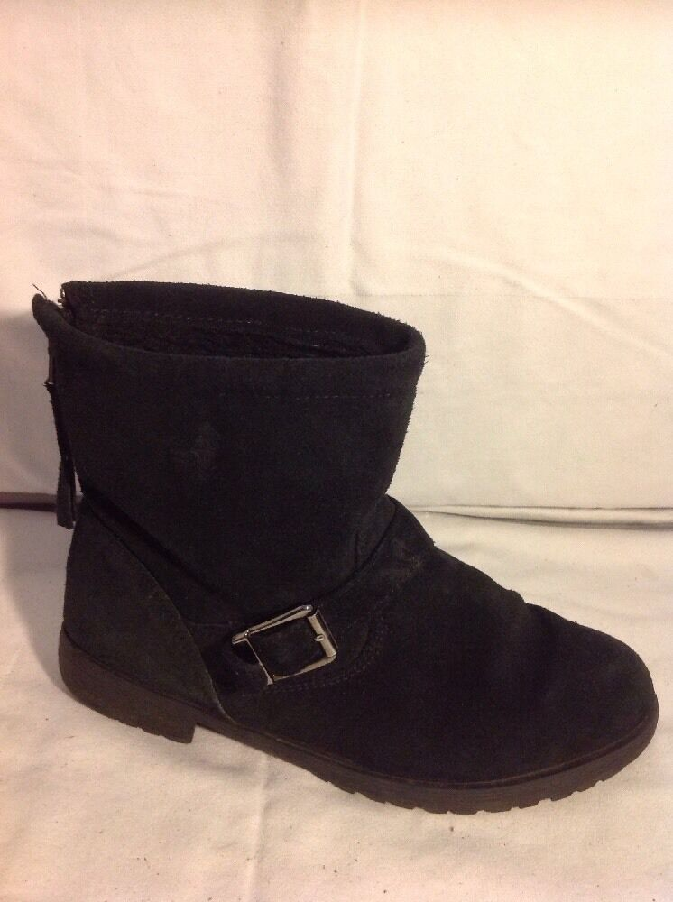 79cf890d4899f Office Girl Black Ankle Suede Size 4 Boots nocsix1167-Women's Boots ...