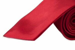 CHEAP-8CM-MENS-RED-TIE-Necktie-Neck-Tie-Ties-Wedding-Formal-Races-Bargain