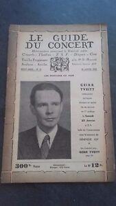 Revista Le Guía de La Concierto Y Las Sketches Letra 1947 N º 15 G. Tveitt