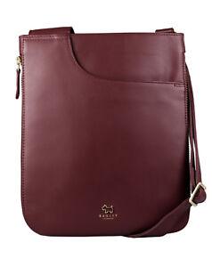Radley-London-senora-bolso-bandolera-034-Pockets-034-cuero-rojo-Burgundy-10231