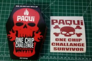 Paqui-One-Chip-Challenge-NEW-2019-Carolina-Reaper-Pepper-FREE-Survivor-Sticker