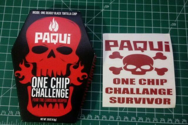 Paqui One Chip Challenge NEW 2019 Carolina Reaper Pepper FREE Survivor Sticker