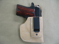 Jimenez .380 Iwb Inside Waistband Molded Leather Concealed Carry Holster Tan