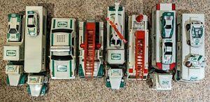 Hess Truck Lot w/ Mini Vehicles - 1991, 1992, 1993, 1994, 1995, 1996, 1997, 1998