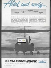 AVRO A.V.ROE CANADA LTD 1954 CF-100'S RCAF ALERT & READY AD