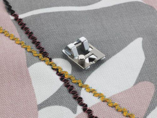 croquet ruban ou galon sequin F021N serpentine Pied de tressage réglable
