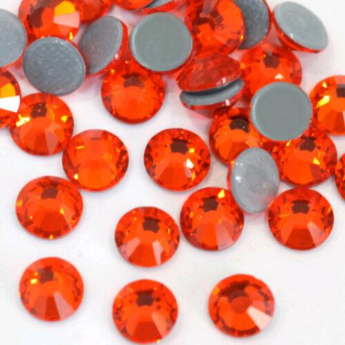 Crystal Iron On Hotfix Rhinestones Hot Fix Flatback Shiny Strass Stones  0.11in
