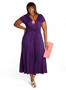 9eebe9ae98f Igigi Womens Dress Maxi 26 28 4X Plus Size Purple Antonia Style Made ...