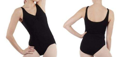 Black Cotton Girls Adult Tank Sleeveless Leotards Quality Assured