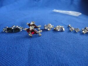 4 Pair Vintage Screw On Earrings