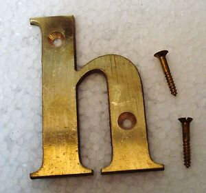 "H – 2"" Brass Letters / Letter - House Door Sign - 2nd Alphabet Longue DuréE De Vie"