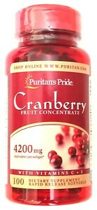 Cranberry-Fruit-Concentrate-4200mg-Extract-Vitamin-C-E-100-Softgels-Capsules-UTI