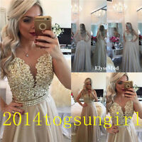 Long Formal Wedding Evening Ball Gown Party Prom Bridesmaid Dress Custom Size