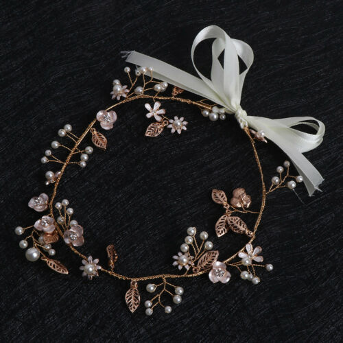 Bride Leaf Pearl Hair Clips Crown Hairband For Women Wedding Hair Accessories