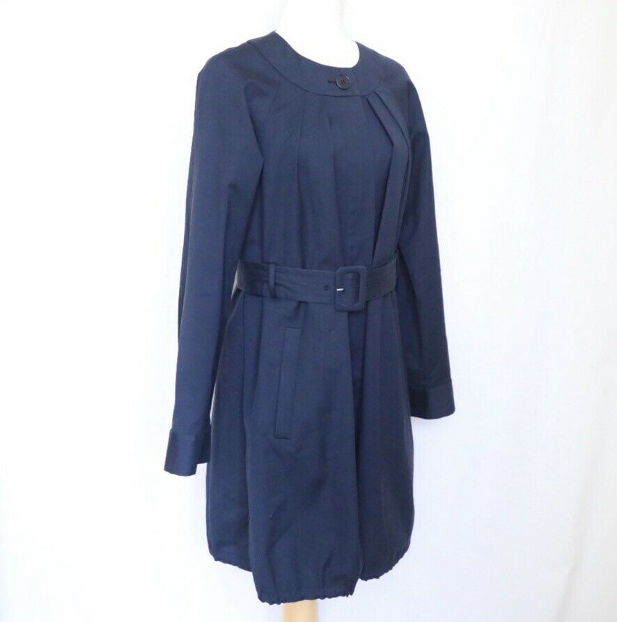 THEORY Women's Navy Blue Idola Connect Trench Coa… - image 7