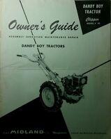 Midland Dandy Boy Garden Tractor Owner & Parts Manual +bonus Montgomery Ward 10p