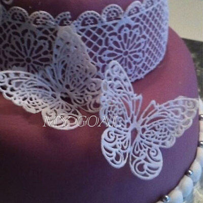 Butterfly Silicone Fondant Mold Lace Wedding Cake Decorating Tools Mould Party