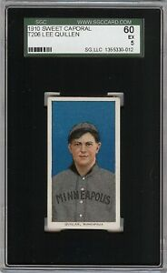 Rare 1909-11 T206 Lee Quillen Sweet Caporal 350 Minneapolis ML SGC 60 / 5 EX