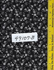 QUILT FABRIC: 100% COTTON, BLACK & WHITE,  49107-B,  By the Yard