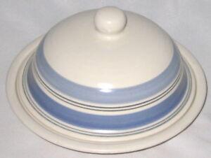 Pfaltzgraff RIO Pottery 2 Piece Blue Butter Dish | eBay